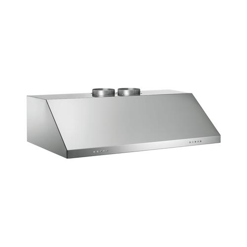48 Wallmount Canopy Hood, 2 motors 1200CFM Stainless Steel