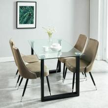 See Details - Franco/Silvano 5pc Dining Set, Black/Vintage Brown