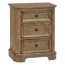 RGB 3-Drawer Stonewood Nightstand