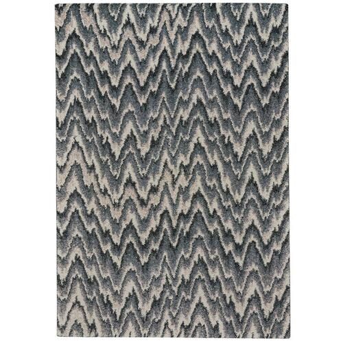 "Mineral-Flamestitch Blue Slate - Rectangle - 3'11"" x 5'6"""