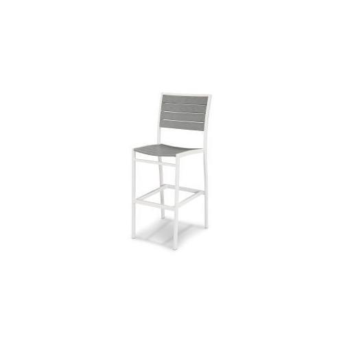 Polywood Furnishings - Eurou2122 Bar Side Chair in Satin White / Slate Grey