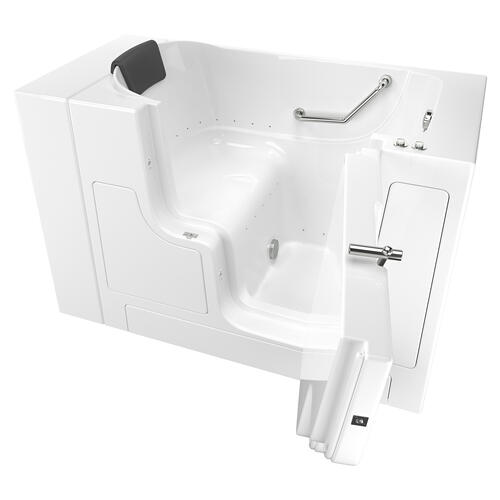 American Standard - Gelcoat Premium Seriers 30x52 Walk-in Tub with Air Spa and Outswing Door, Right Drain  American Standard - White