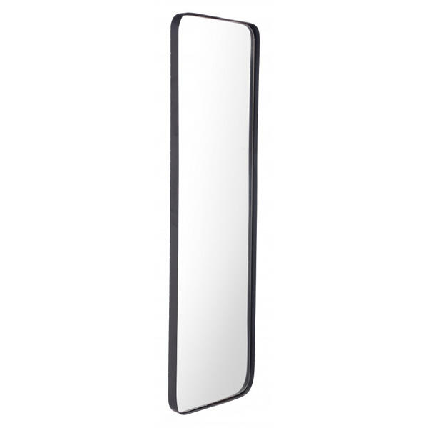 Rectangular Metal Back Mirror Black