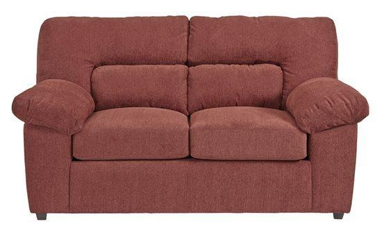 Loveseat - Shown in 116-29 Red Chenille Finish