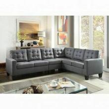 ACME Earsom Sectional Sofa - 52760 - Gray Linen