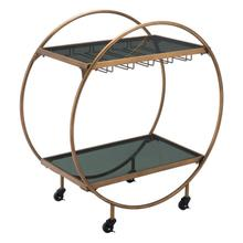 Arc Bar Cart Gold & Black
