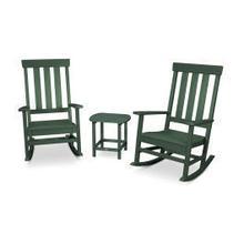 View Product - Prescott 3-Piece Porch Rocking Chair Set in Green