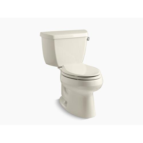 Kohler - Almond Two-piece Elongated 1.28 Gpf Toilet With Right-hand Trip Lever