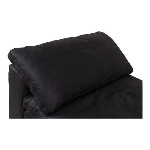 Moe's Home Collection - Clay Slipper Chair Nubuck Leather Black