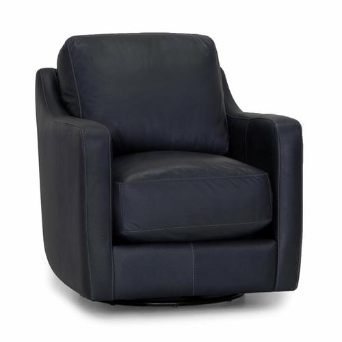 2183 Chelsea Leather Swivel Accent Chair