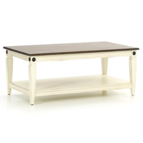 Glennwood Coffee Table  White & Charcoal