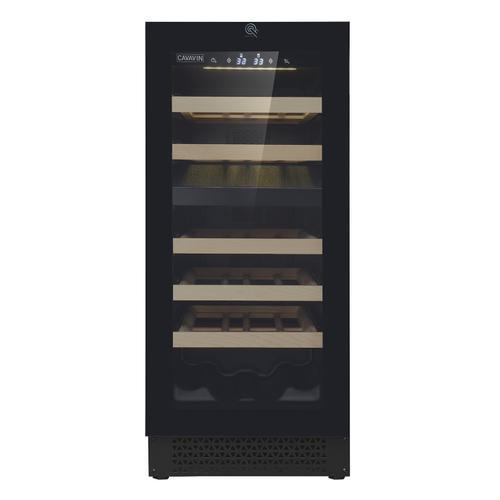 Push-to-open Full Glass Door, Built-in/freestanding Wine Cellar 24 Bottles Capacity - Dual Zone