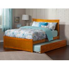 Metro Full Bed with Matching Foot Board with Urban Trundle Bed in Caramel Latte