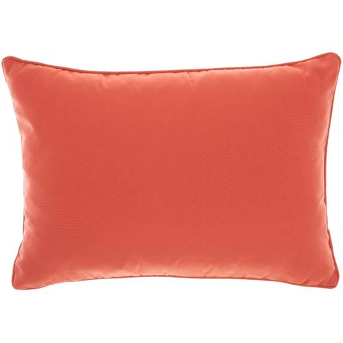"Outdoor Pillows L9090 Coral 14"" X 20"" Throw Pillow"
