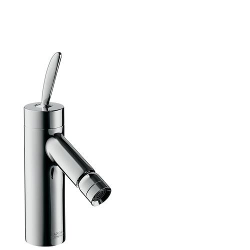 Stainless Steel Optic Single lever bidet mixer with pop-up waste set