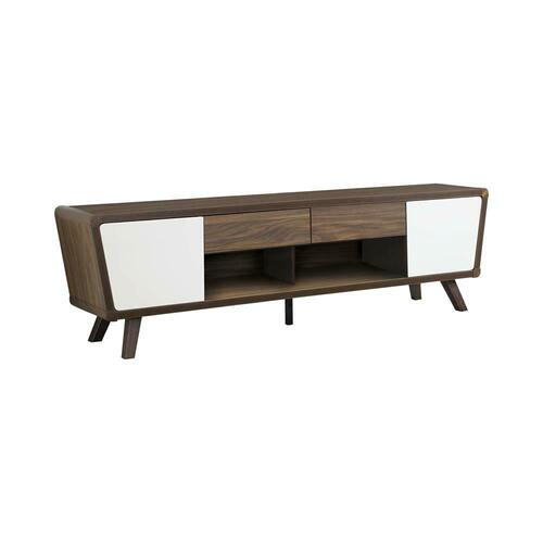 Mid-century Modern Dark Walnut TV Console