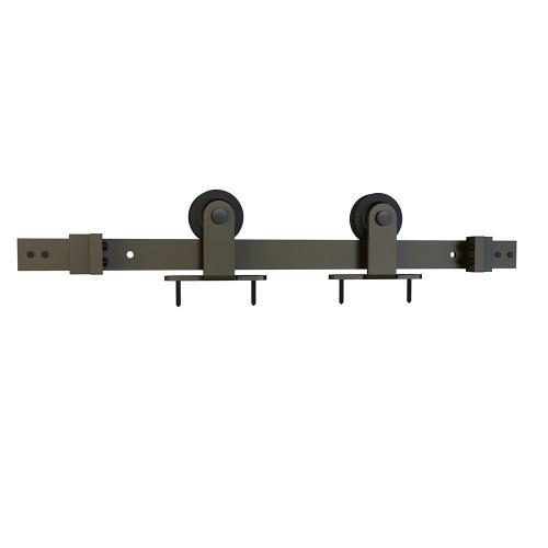 Schlage - Sliding Barn Door Hardware - 8' Top Mount - Dark Bronze