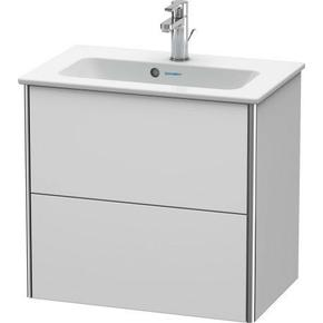 Vanity Unit Wall-mounted Compact, White Satin Matte (lacquer)