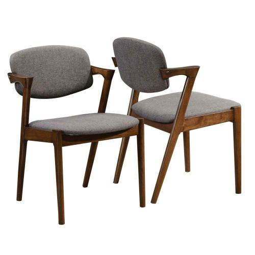 Coaster - Malone Mid-century Modern Dark Walnut Dining Chair