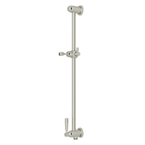 Polished Nickel Perrin & Rowe Holborn Slide Bar With Integrated Volume Control And Outlet