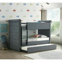 ACME Romana II Bunk Bed & Trundle (Twin/Twin) - 37855 - Gray Fabric
