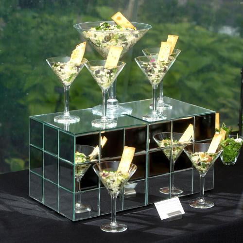 Howard Elliott - Short Mirrored Puzzle Cube Pedestal