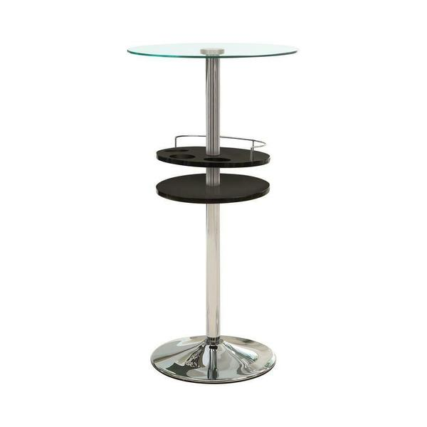 See Details - Contemporary Black Bar Table