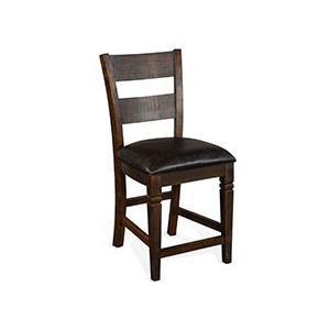 "24""H Homestead Ladderback Barstool, Cushion Seat"