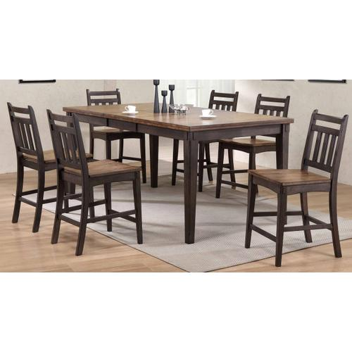 Gallery - Rustic Two Tone Gathering Table and Barstools