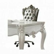 ACME Versailles Executive Chair w/Swivel & Lift - 92822 - Silver PU & Antique Platinum