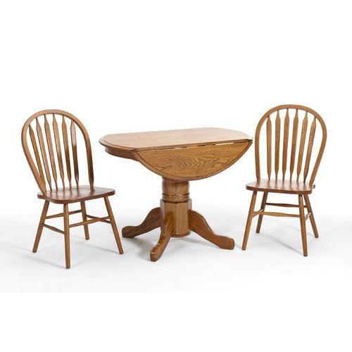 Gallery - Classic Oak Chestnut Drop Leaf Table