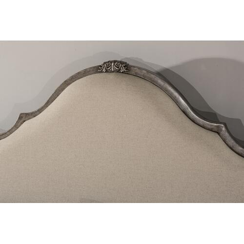 Delray Headboard - Queen - Aged Steel With Linen Stone