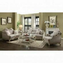 ACME Chelmsford Sofa w/5 Pillows - 56050 - Beige Fabric & Antique Taupe