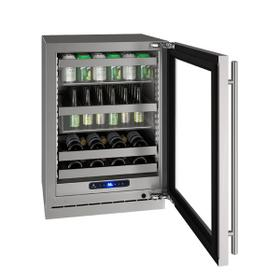 """Hbv524 24"""" Beverage Center With Stainless Frame Finish and Right-hand Hinge Door Swing (115 V/60 Hz Volts /60 Hz Hz)"""