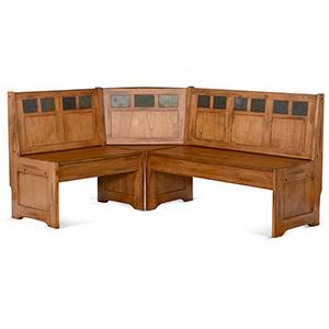 Sunny Designs - Sedona Bench/ Short & Corner/ Seat, Wood Seat