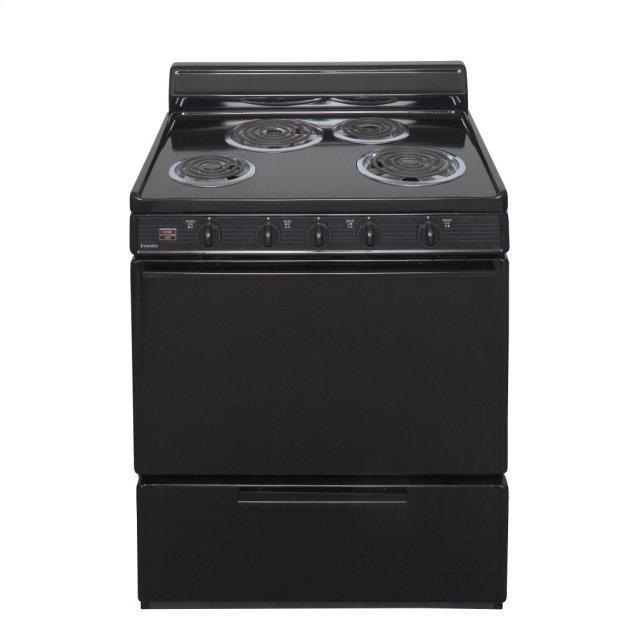 Premier 30 in. Freestanding Electric Range in Black