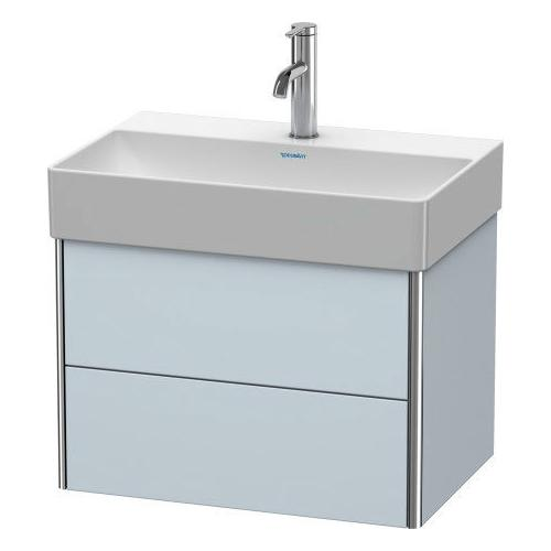 Product Image - Vanity Unit Wall-mounted Compact, Light Blue Satin Matte (lacquer)