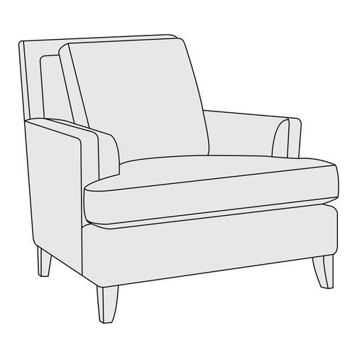 Bernhardt - Addison Chair in Mocha (751)