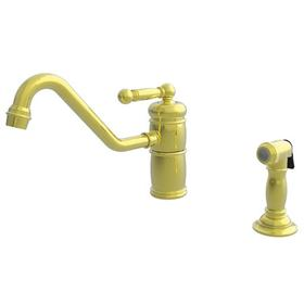 Polished Gold - PVD Single Handle Kitchen Faucet with Side Spray