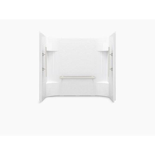 """Sterling - Accord® 60"""" x 31-1/4"""" tile wall set with Aging in Place backerboards - White"""