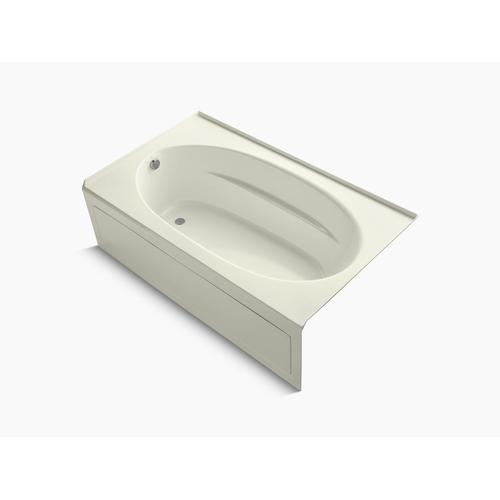 """Biscuit 72"""" X 42"""" Alcove Bath With Integral Apron and Left-hand Drain"""