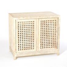 See Details - Driftwood Lattice Two-Door Cabinet