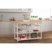 Kennon Kitchen Cart - Natural Wood Top Product Image
