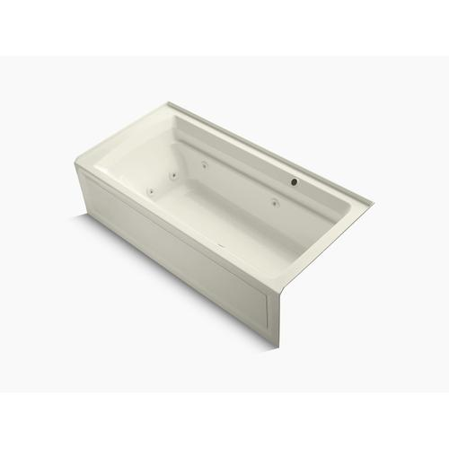 "Biscuit 72"" X 36"" Alcove Whirlpool Bath With Bask Heated Surface, Integral Flange, and Right-hand Drain"