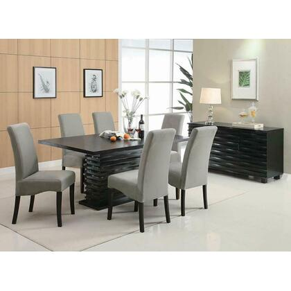 See Details - Stanton Contemporary Black Rectangular Dining Table
