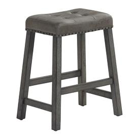 Upholstered Counter Stool, Set of 2 - Harbor Gray Finish