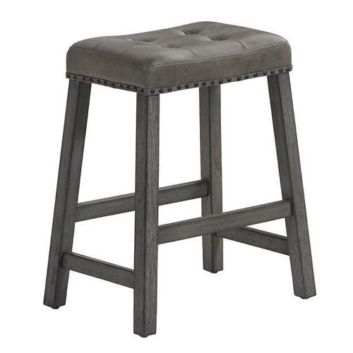Upholstered Counter Stool, Set of 2 - Harbor Gray Finish