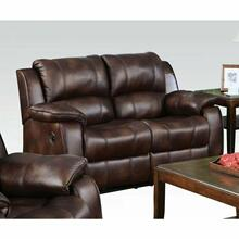 ACME Zanthe Loveseat (Motion) - 50511 - Brown Polished Microfiber