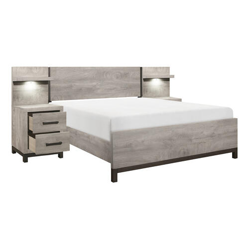 Homelegance - 5pc Set Full Wall Bed (FB+2NS+2NS-P)