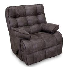 Venture Rocker Recliner in Pewter Suede Fabric